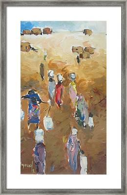 Washing Day 2 Framed Print by Negoud Dahab