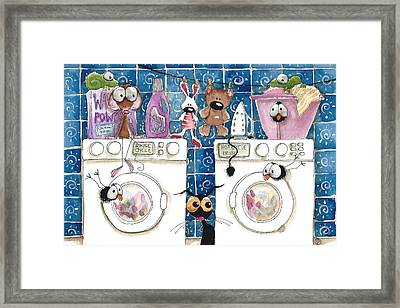 Washing Day Framed Print