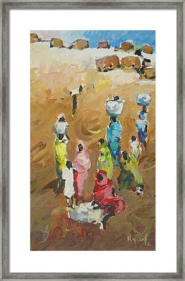 Washing Day Framed Print by Negoud Dahab