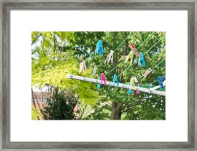 Washing Line Framed Print by Tom Gowanlock
