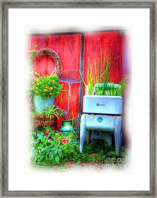 Washing Machine Art Framed Print by Mel Steinhauer