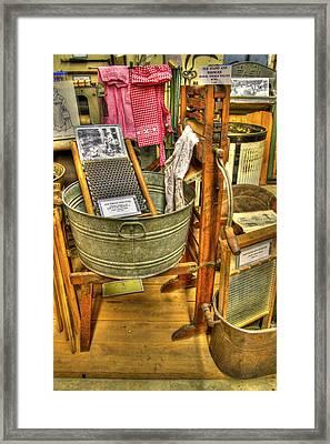 Washing Machine Framed Print by David Simons