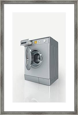 Washing Machine Framed Print by Dorling Kindersley/uig
