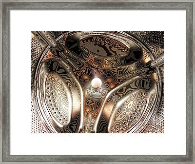 Washing Machine Drum Framed Print by Craig Yates