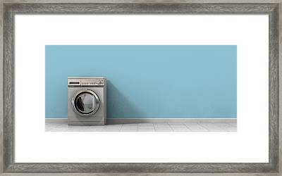 Washing Machine Empty Single Framed Print by Allan Swart