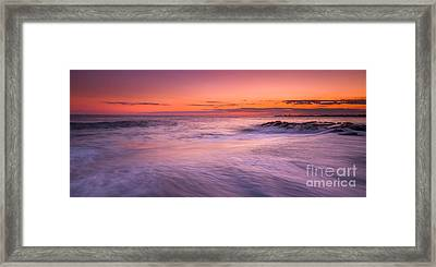 Washing Over The Rocks Framed Print by Michael Ver Sprill