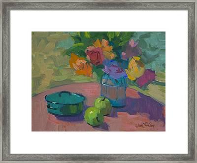 Washington Apples Framed Print by Diane McClary