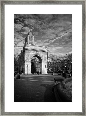 Washington Arch Framed Print