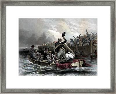 Washington Bids Adieu To His Generals  Framed Print