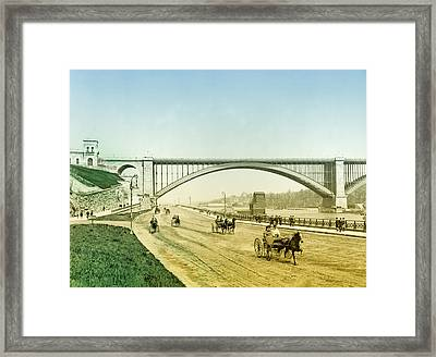 Washington Bridge And The Harlem River Speedway New York Framed Print by Bill Cannon