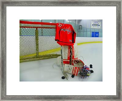 Washington Capitals Olie Kolzig Hockey Framed Print