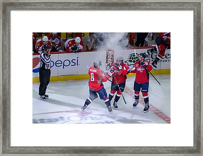 Washington Capitals Victory  Framed Print by Pavel Petrushenko