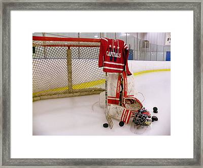 Washington Capitals Winter Classic 2015 Goalie Jersey Framed Print