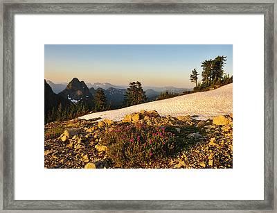 Washington, Cascade Mountains, Mount Framed Print by Matt Freedman