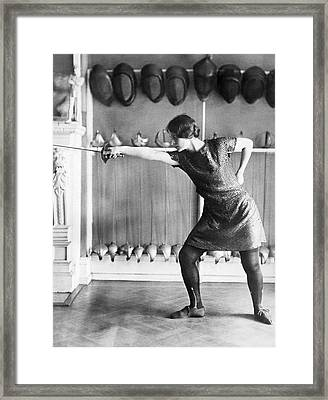 Washington Champion Fencer Framed Print by Underwood Archives