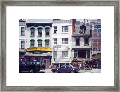 Washington Chinatown In The 1980s Framed Print