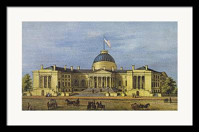 City Hall Drawings Framed Prints