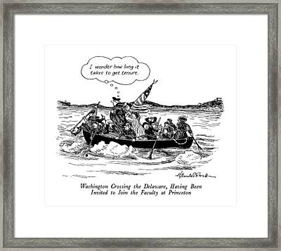 Washington Crossing The Delaware Framed Print by J.B. Handelsman