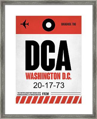 Washington D.c. Airport Poster 1 Framed Print by Naxart Studio