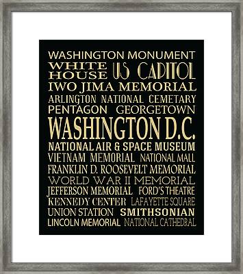 Washington D.c. Attractions Framed Print by Jaime Friedman