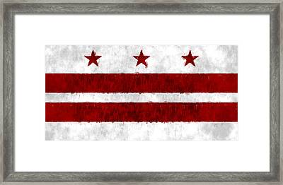 Washington D.c. Flag Framed Print