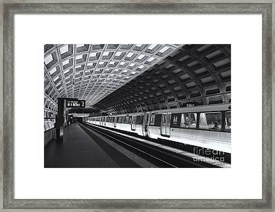 Washington Dc Metro Station Iv Framed Print by Clarence Holmes