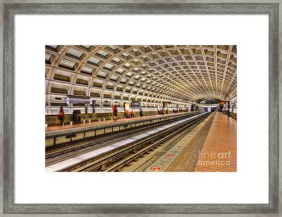 Washington Dc Metro Station Ix Framed Print by Clarence Holmes