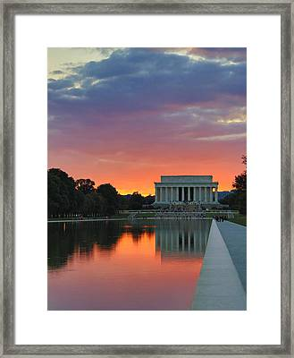 Washington Dc Night Framed Print by Jack Nevitt
