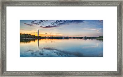 Washington Dc Panorama Framed Print by Sebastian Musial