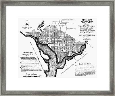 Washington, D.c. Plan, 1792 Framed Print by Granger