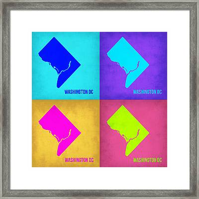 Washington Dc Pop Art Map 1 Framed Print