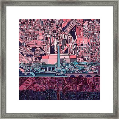 Washington Dc Skyline Abstract 2 Framed Print