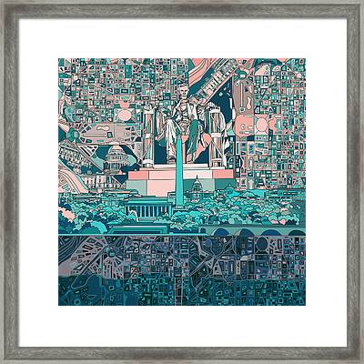Washington Dc Skyline Abstract 5 Framed Print