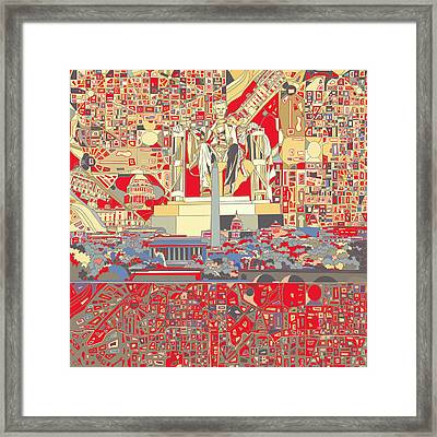 Washington Dc Skyline Abstract 6 Framed Print