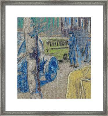 Washington Dc Street 1942 Framed Print by Ch' Brown