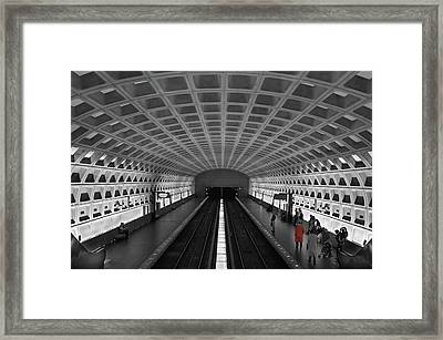 Framed Print featuring the photograph Washington Dc Subway by Geraldine Alexander