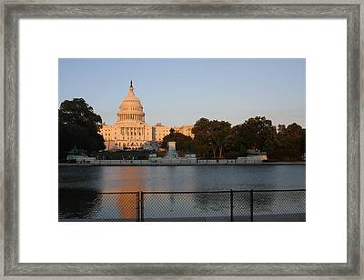 Washington Dc - Us Capitol - 011312 Framed Print by DC Photographer
