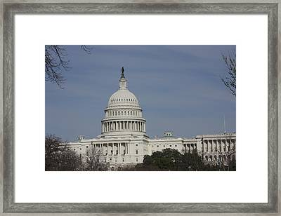 Washington Dc - Us Capitol - 01136 Framed Print by DC Photographer