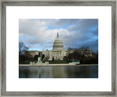 Washington Dc - Us Capitol - 12122 Framed Print