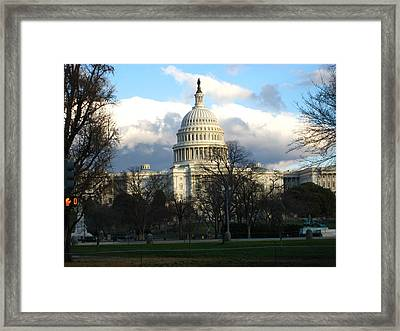 Washington Dc - Us Capitol - 12124 Framed Print