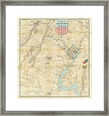 Washington Dc Virginia 1862 Map Framed Print