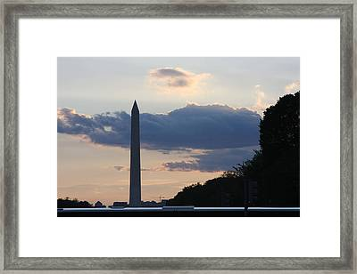 Washington Dc - Washington Monument - 01131 Framed Print