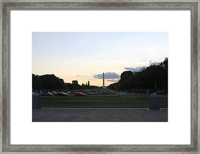 Washington Dc - Washington Monument - 01132 Framed Print by DC Photographer