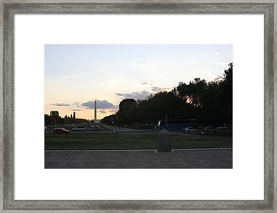 Washington Dc - Washington Monument - 01133 Framed Print