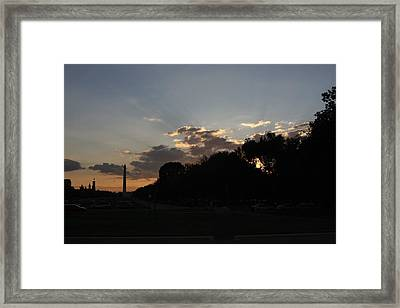 Washington Dc - Washington Monument - 01134 Framed Print