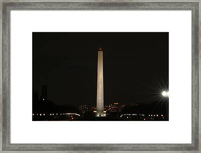 Washington Dc - Washington Monument - 01135 Framed Print