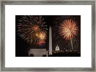 Washington Fireworks Framed Print