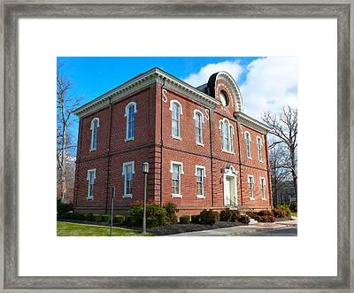 Washington-franklin Hall Framed Print by Jean Wright