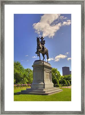 Washington In The Garden 2 Framed Print