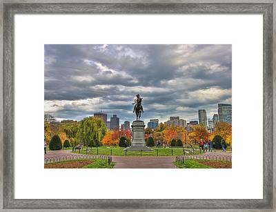Washington In The Public Garden Framed Print